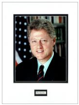 Bill Clinton Autograph Signed Display